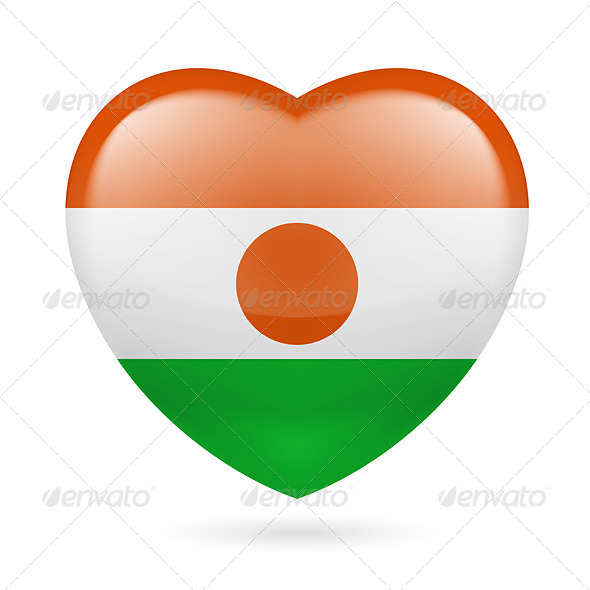 GraphicRiver Heart Icon of Niger 7294005
