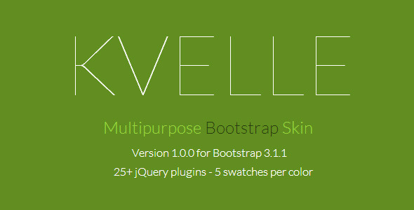 CodeCanyon Kvelle Multipurpose Bootstrap Skin 7294018