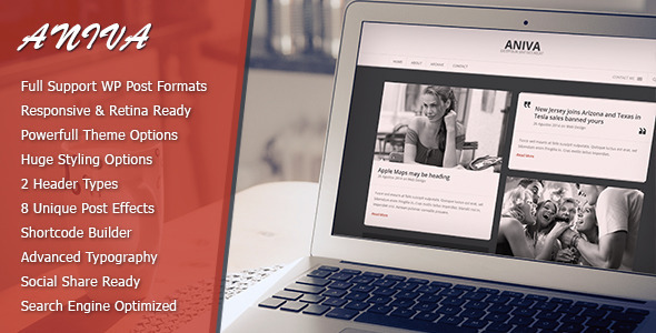 ThemeForest Aniva Elegant Responsive WordPress Blog Theme 7294034