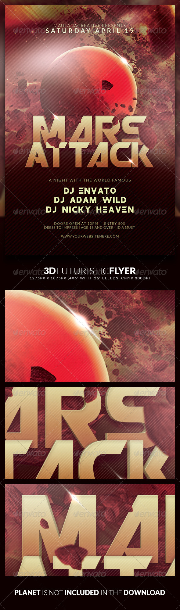 GraphicRiver 3D Futuristic Flyer 7269024