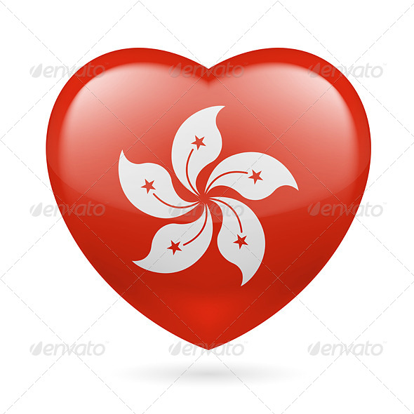 GraphicRiver Heart Icon of Hong Kong 7294103