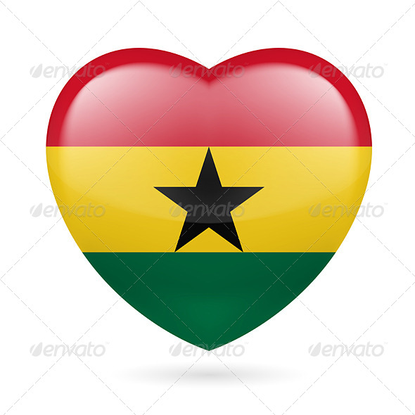 GraphicRiver Heart Icon of Ghana 7294104