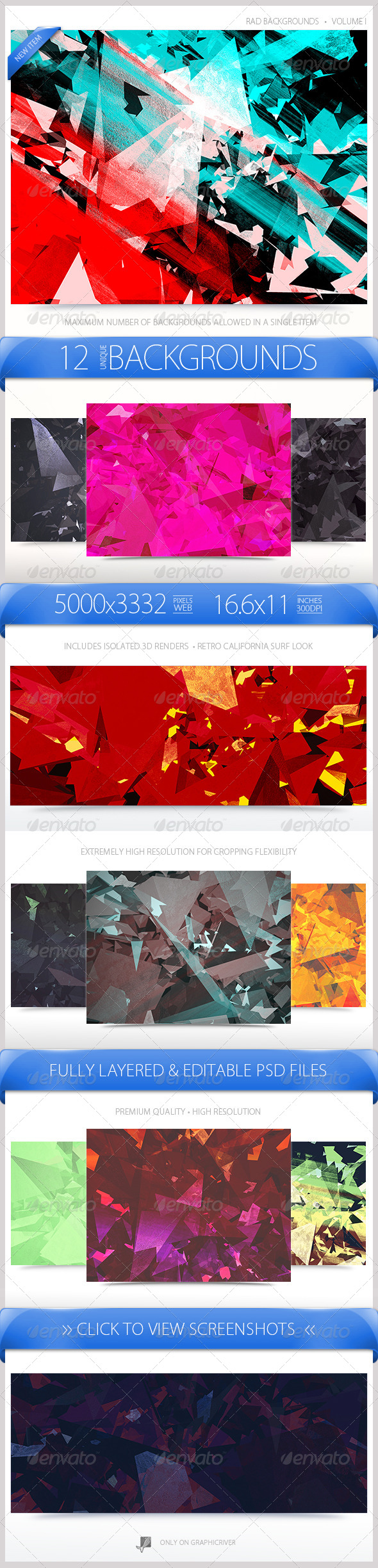 GraphicRiver Rad Backgrounds Volume 1 7294315