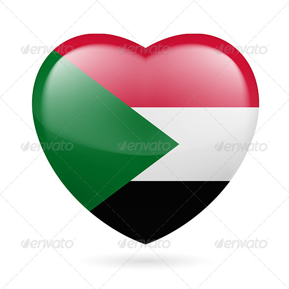 GraphicRiver Heart Icon of Sudan 7294318
