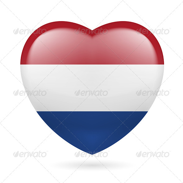 GraphicRiver Heart Icon of Netherlands 7294350