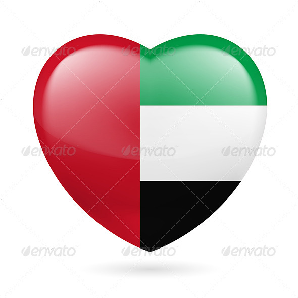 GraphicRiver Heart Icon of United Arab Emirates 7294352