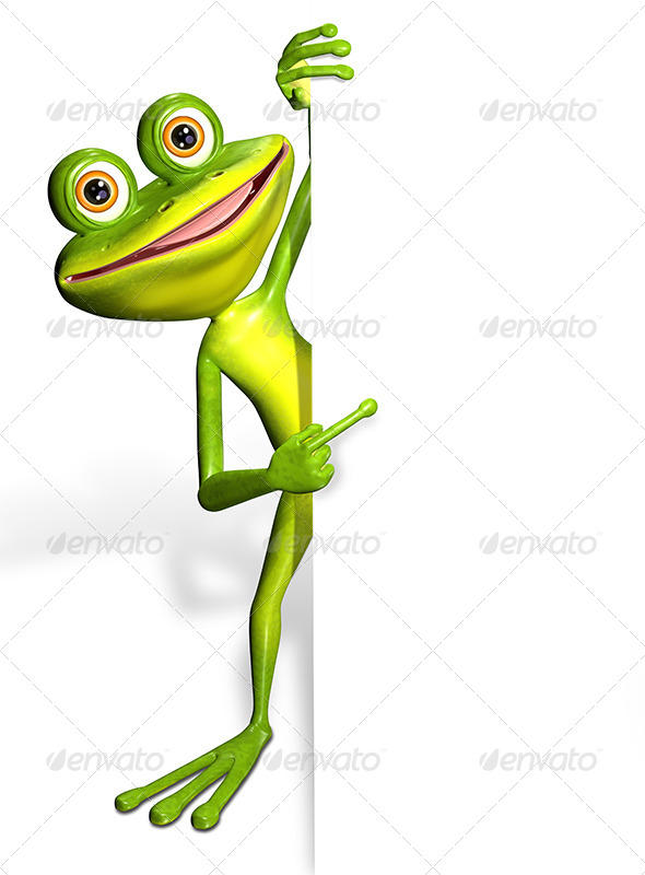 GraphicRiver Frog and white background 7294451