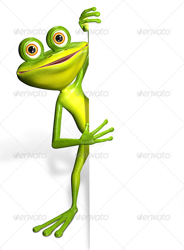 GraphicRiver Frog and white background 7294537