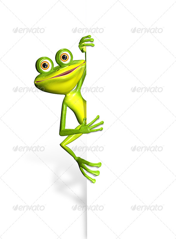 GraphicRiver Frog and white background 7294614