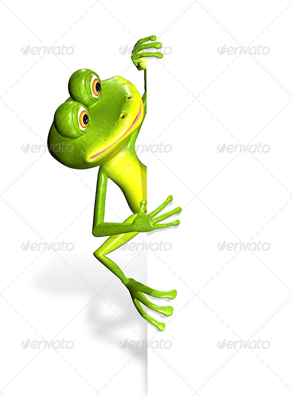 GraphicRiver Frog and white background 7294622