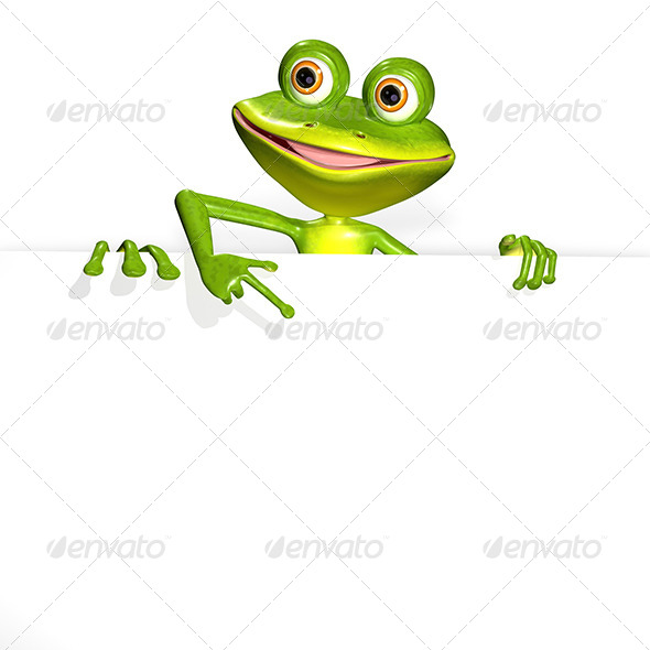 GraphicRiver Frog and white background 7294655