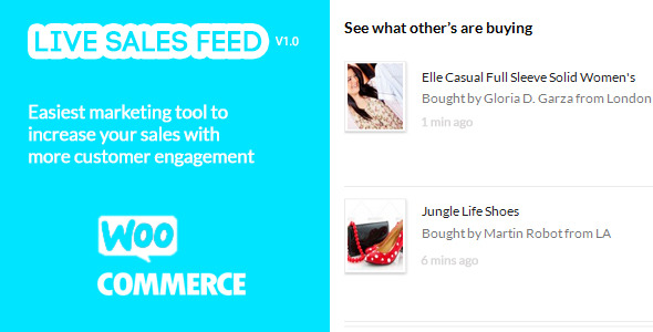CodeCanyon Live Sales Feed for WooCommerce 7273610
