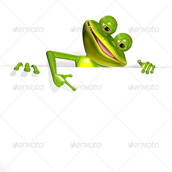 GraphicRiver Frog and white background 7294680