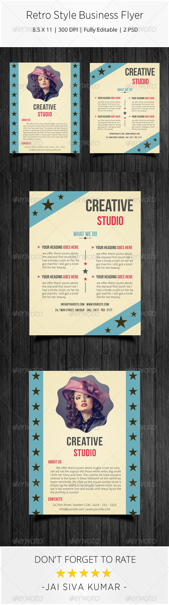 GraphicRiver Retro Style Business Flyer 7294685