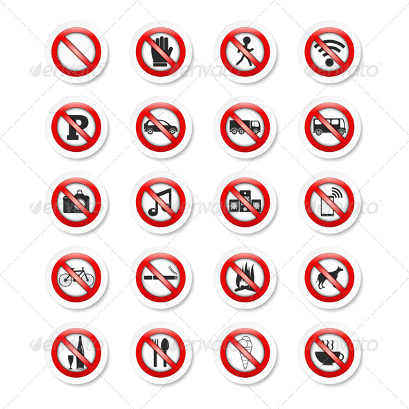 GraphicRiver Prohibition Signs 7294978