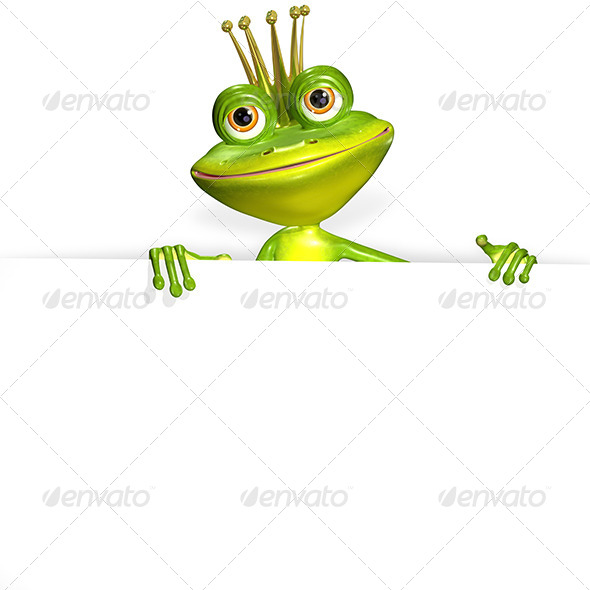 GraphicRiver princess frog and white background 7294988