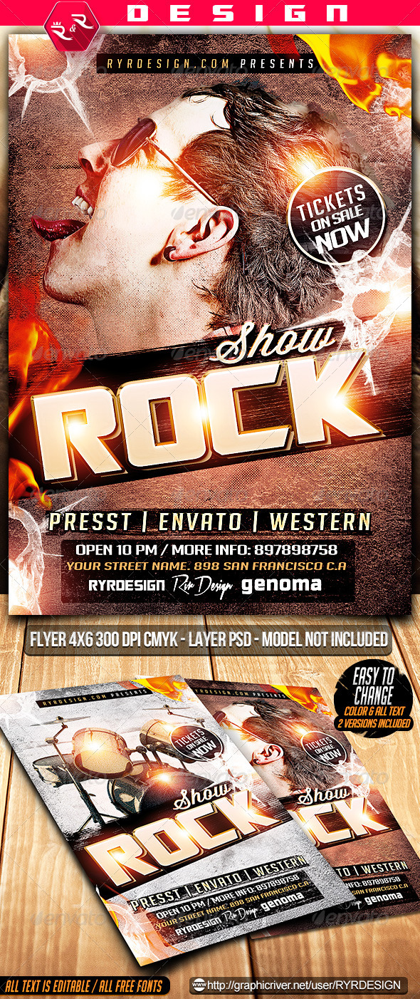 GraphicRiver Rock Flyer PSD 7294993