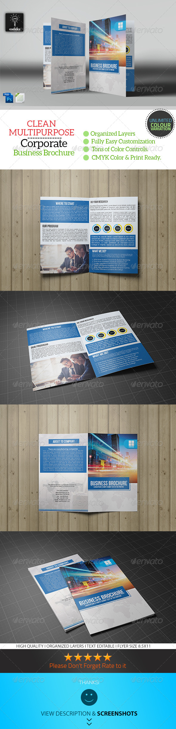 GraphicRiver Business Brochure Bifold Template Vol03 7294994