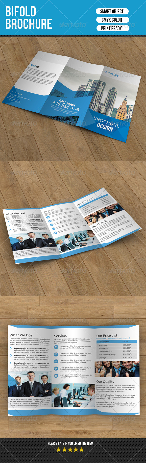 GraphicRiver Trifold Business Brochure 7295000