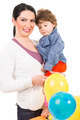 Happy mother and son with balloons - PhotoDune Item for Sale
