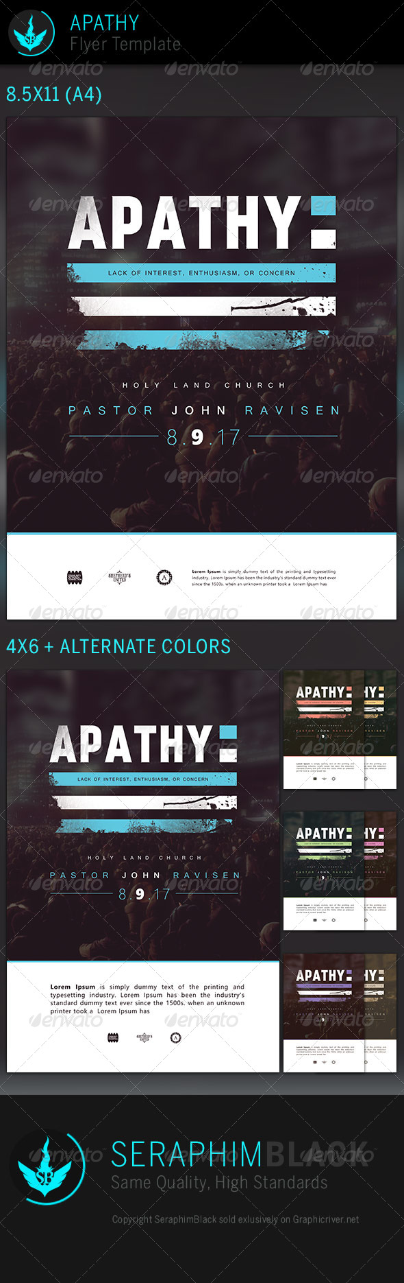 GraphicRiver Apathy Church Flyer Template 7295046