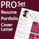 Resume, Portfolio & Cover Letter Templates - GraphicRiver Item for Sale