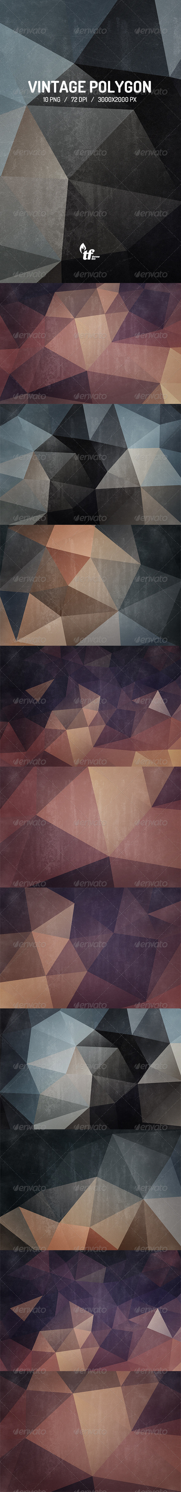 GraphicRiver Vintage Polygon Backgrounds 7295509
