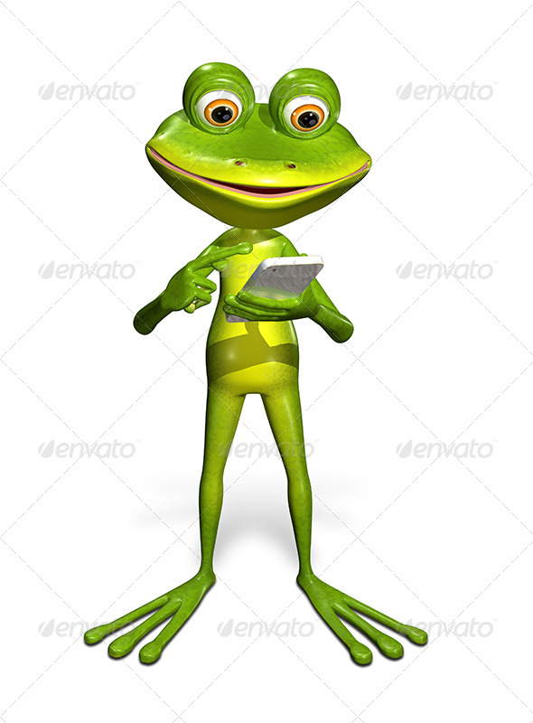 GraphicRiver Frog with a Smartphone 7296132