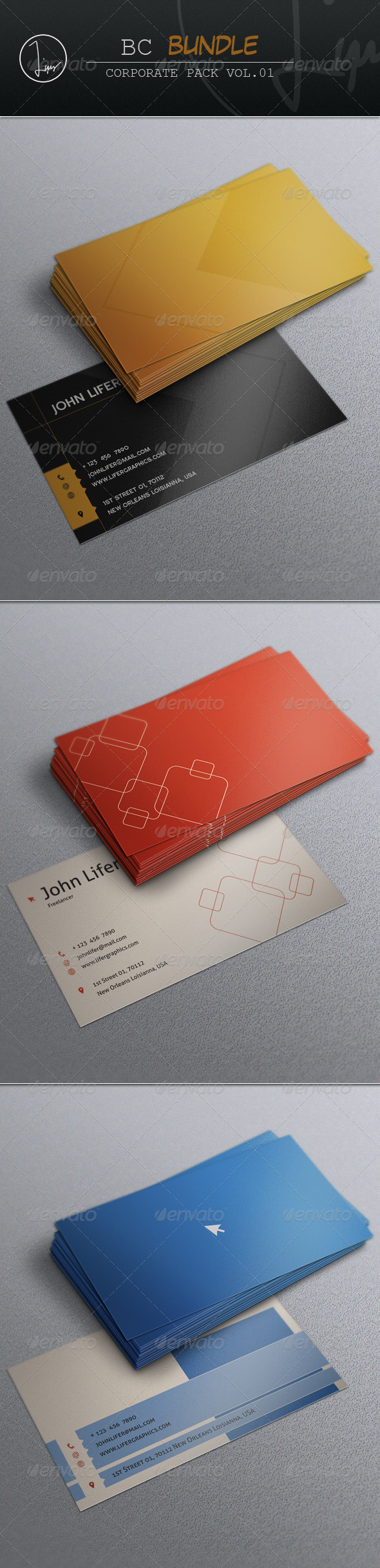 GraphicRiver Business Card Bundle Vol.02 7296133