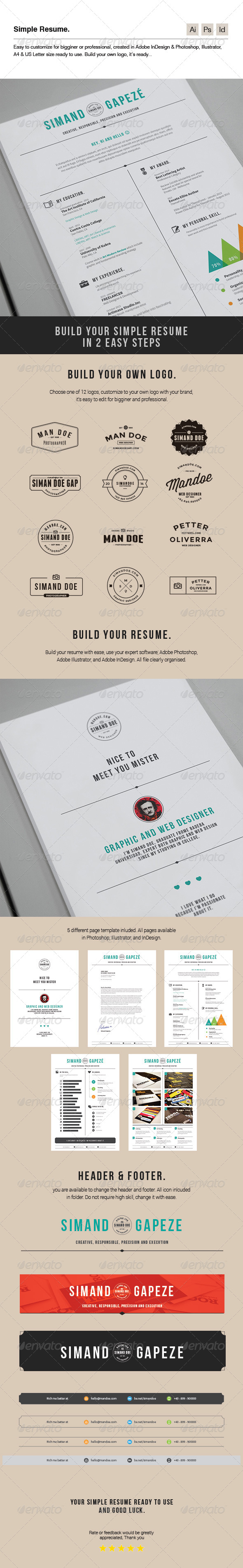 GraphicRiver Simple Resume 7286887