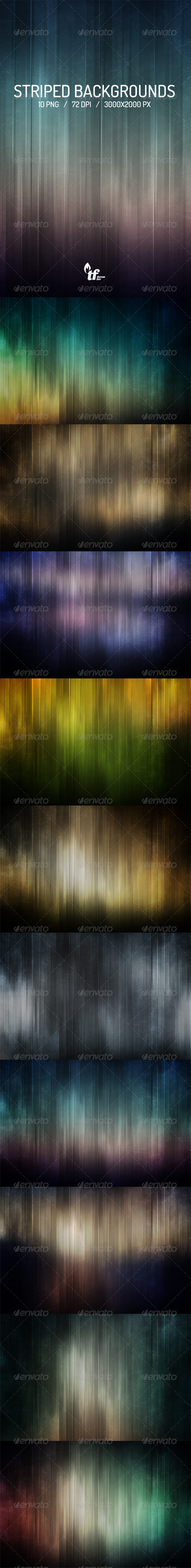GraphicRiver 10 Striped Backgrounds 7296277