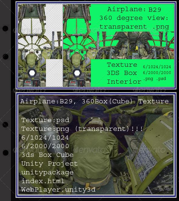 3DOcean Airplane B29 interior 7296407