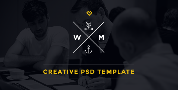ThemeForest W&M One Page Multi-Purpose PSD Template 7297366