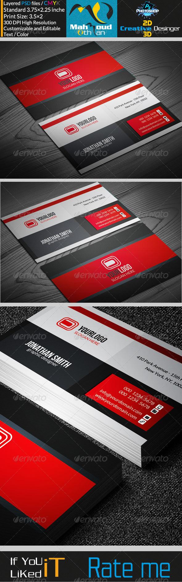 GraphicRiver Corportae Business Card V17 7297888