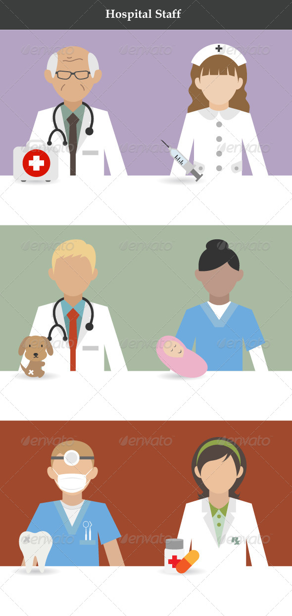 GraphicRiver Hospital Staff 7298078