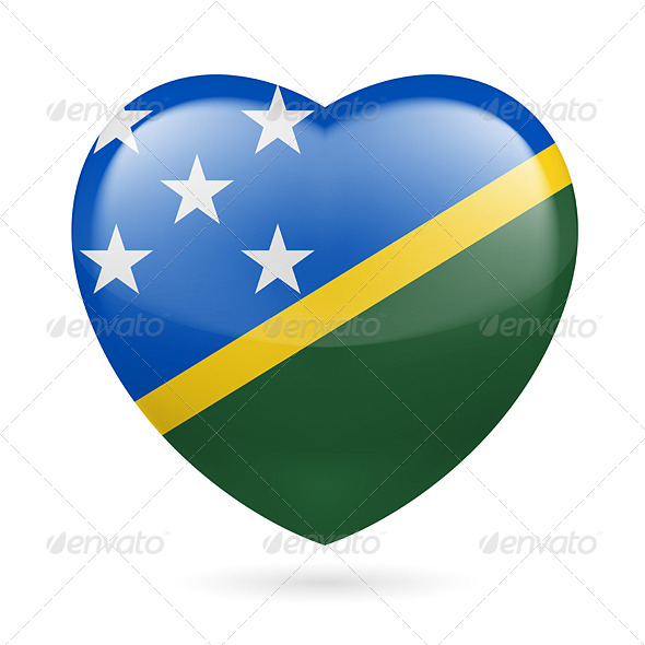 GraphicRiver Heart Icon of Solomon Islands 7298191