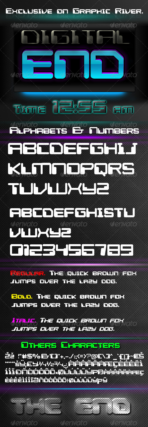 GraphicRiver Digital End Font 7258357