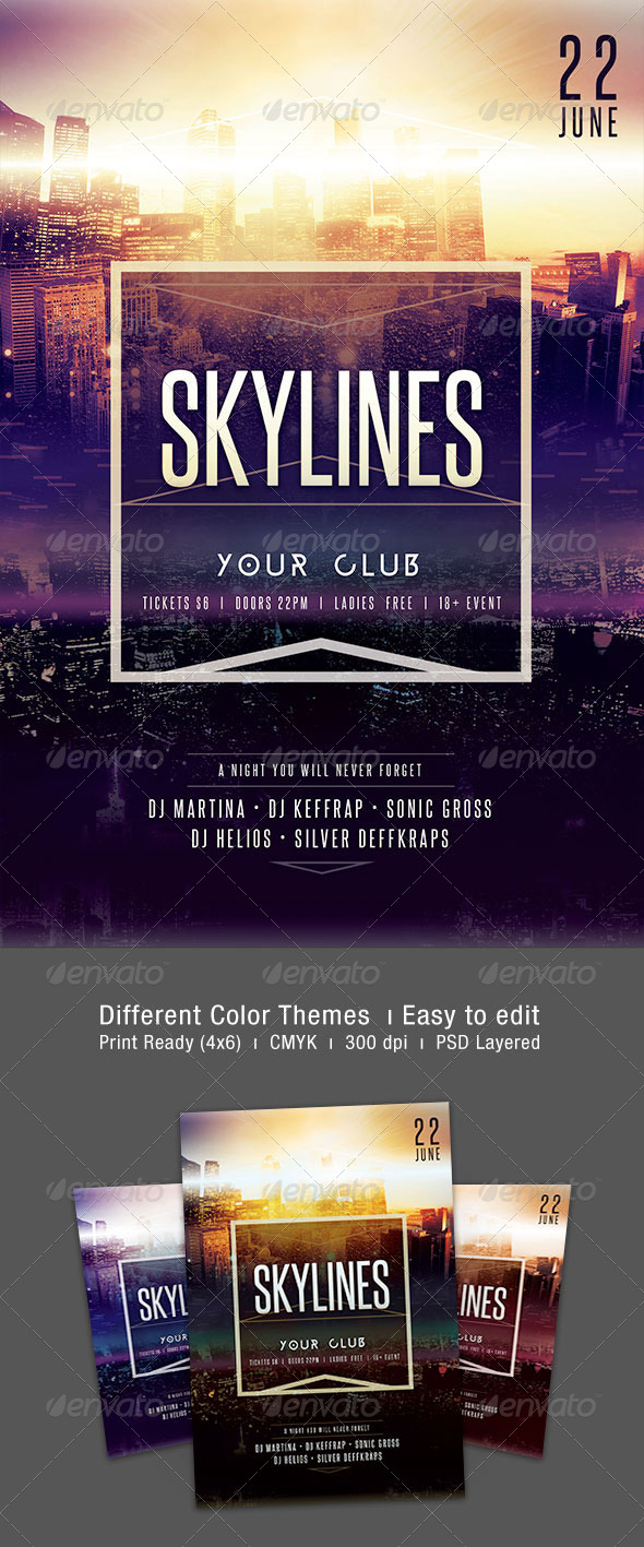GraphicRiver Skylines Flyer 7298456