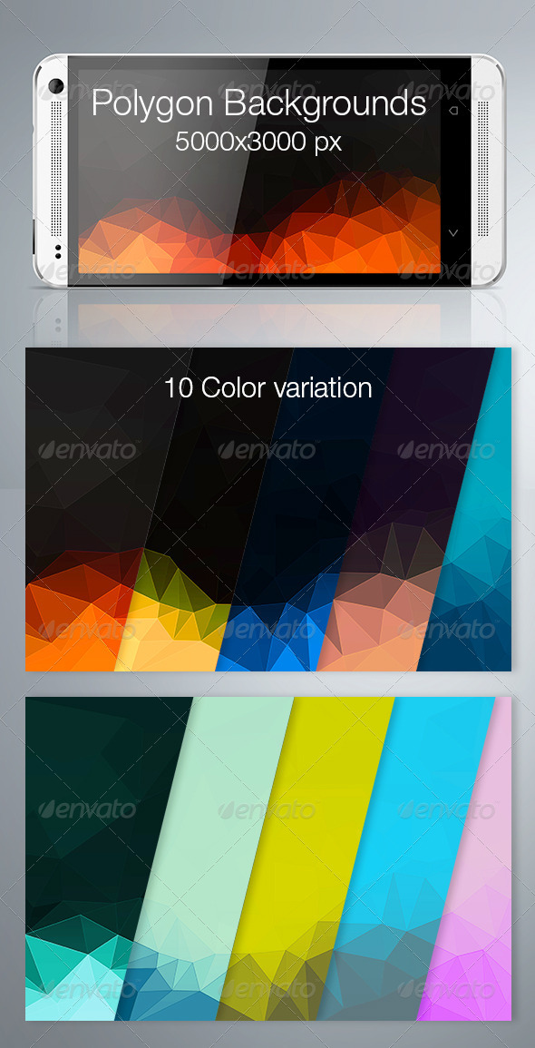 GraphicRiver Polygon Backgrounds 7298591