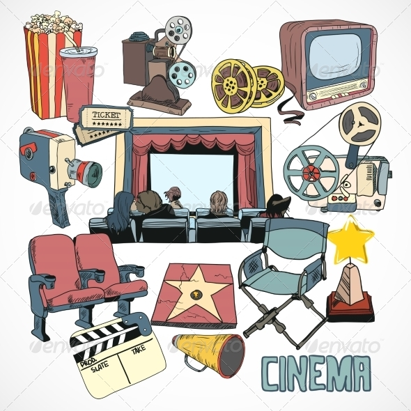 GraphicRiver Vintage Cinema Concept Poster 7298596