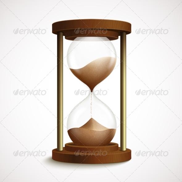 GraphicRiver Retro Hourglass Clock 7298613