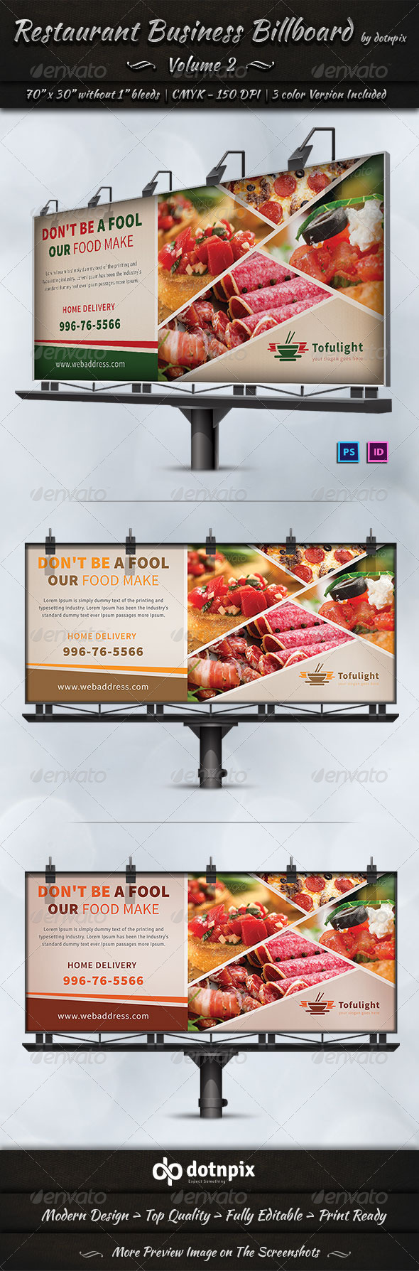 GraphicRiver Restaurant Business Billboard Volume 2 7298713
