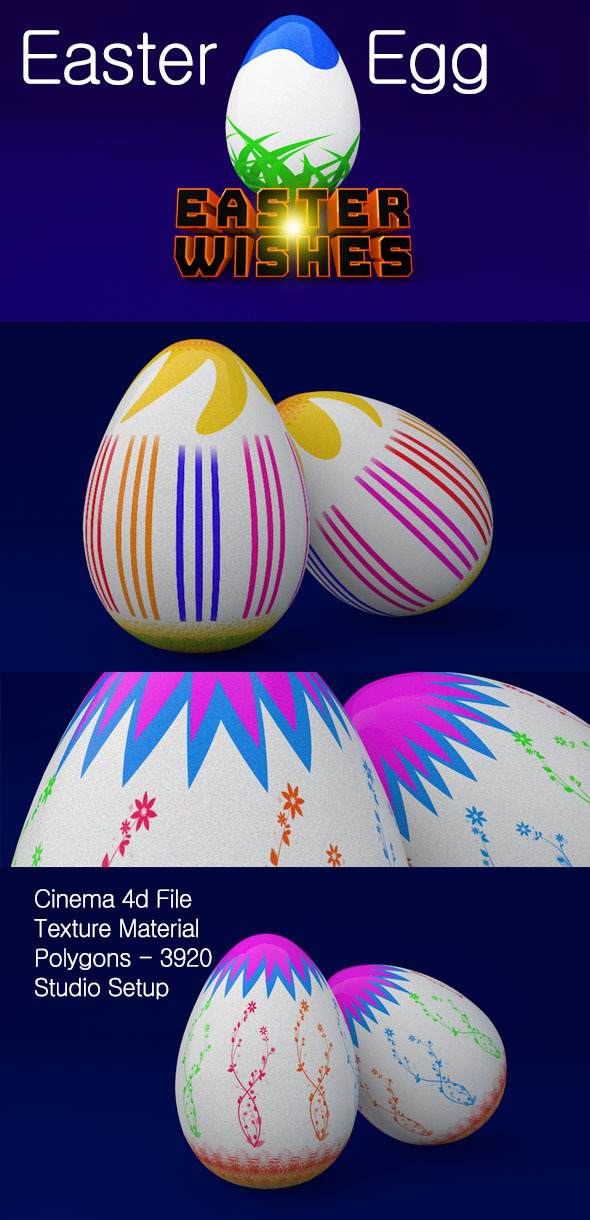 3DOcean 3D Easter Egg 7299001