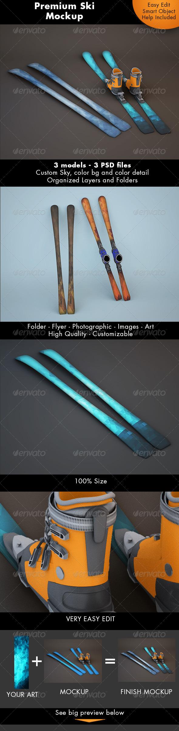 GraphicRiver Ski Mockup 7299090