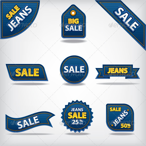 GraphicRiver Jeans Sale Tags 7299152