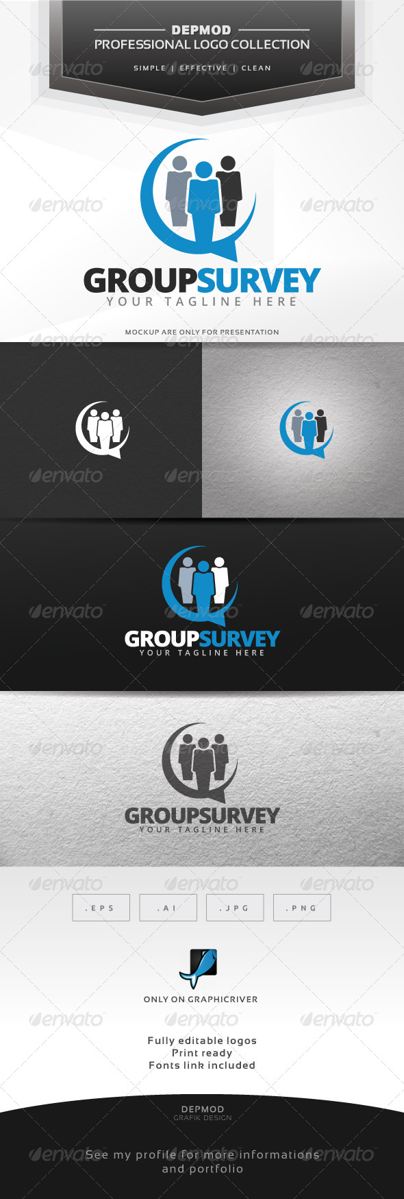 GraphicRiver Group Survey Logo 7299339