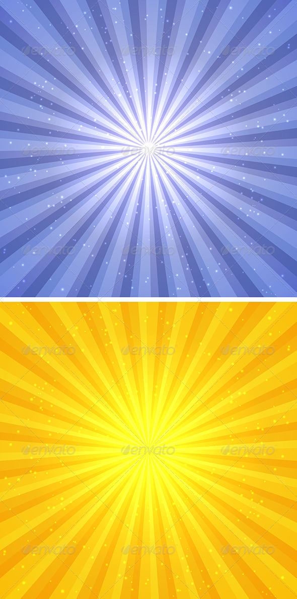 GraphicRiver Abstract Background with Sun Rays 7299350