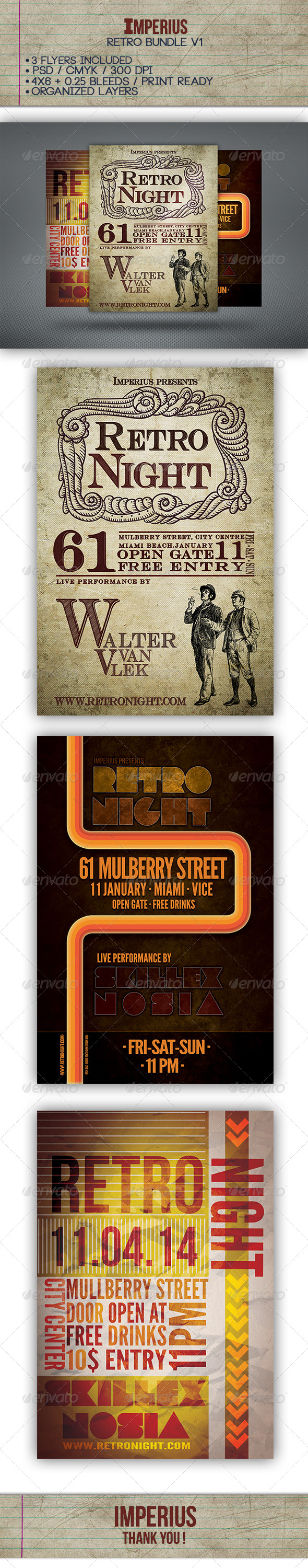 GraphicRiver Retro Bundle V1 7299444