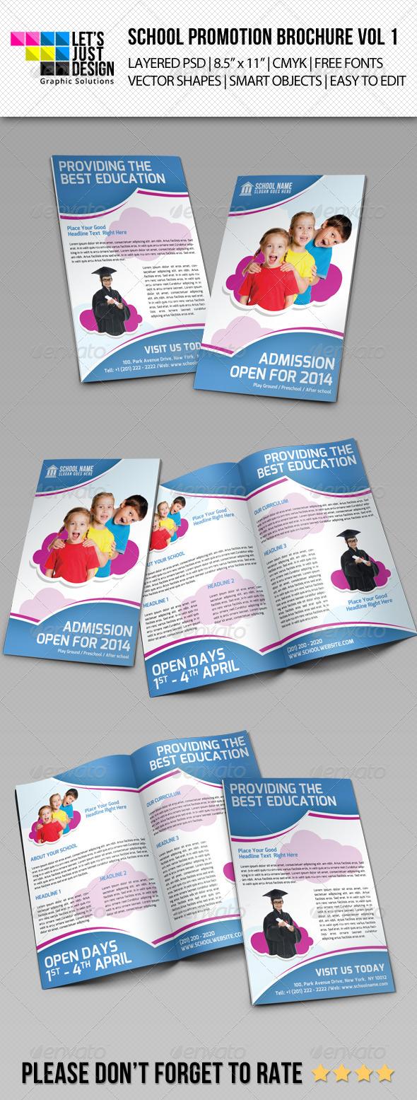 GraphicRiver School Promotion Bi-Fold Brochure Vol 1 7299461