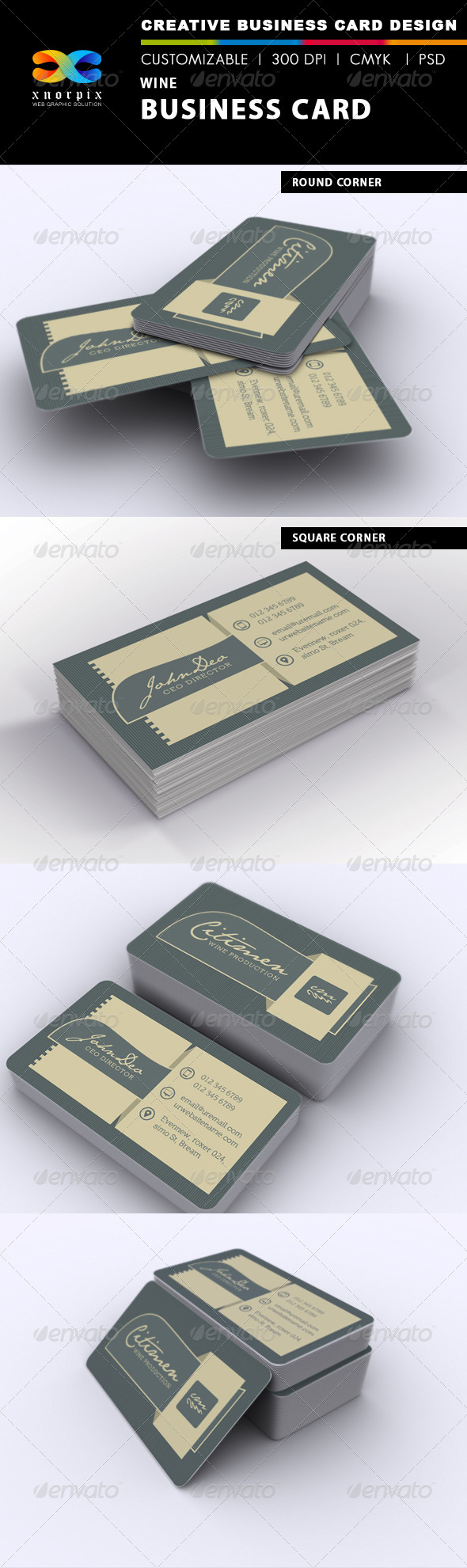 GraphicRiver Wine Business Card 7299531